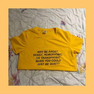 🚚 🥯 Yellow aesthetic tshirt top
