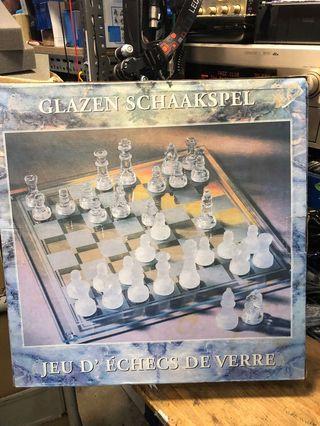 Glad Schachspiel Glass Chessplay