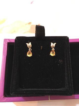 黃晶石耳環 Citrine earings