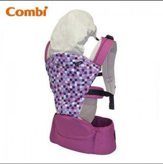 半價‼️免運費!! 順豐取!! 全新 Combi 揹帶 紫色, Foldable Hip Seat,  送禮自用, 嬰兒用品, BB, 禮物