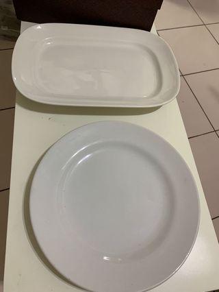 長方瓷盤 圓形瓷盤