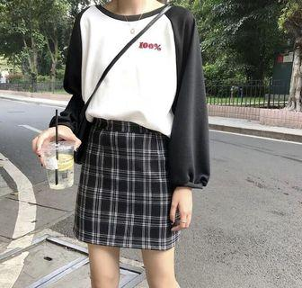 🚚 [INSTOCK] Vintage A Line Checkered Skirt