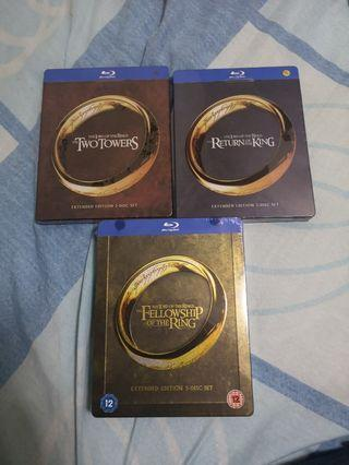 The Lord of The Ring Extended Edition Steelbook Bluray