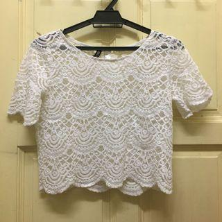 🌼White Lace Top