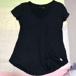 Abercrombie and Fitch Black Tee