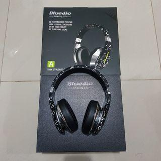 Bluedio Air A Stylish Bluetooth Headphones With Mic and 3D Sound Hitam