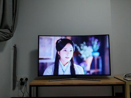 Samsung mu6300 55 inch curved 4k UHD TV 1 year old
