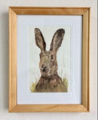 Hare Art Print and Framed by Maureen Howard