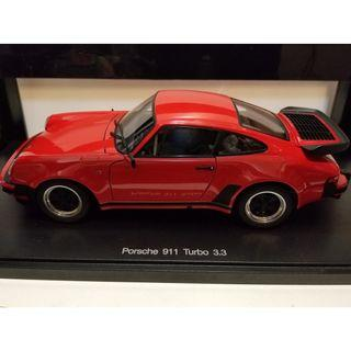1/18 AutoArt Porsche 911 Turbo 3.3 Red minichamps Ignition models kyosho