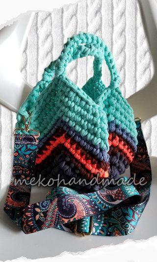 自家鈎織兩用袋