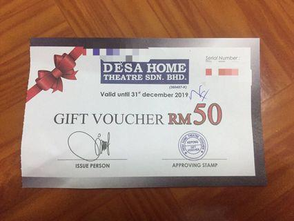 Desa Home Eletrical Voucher RM50