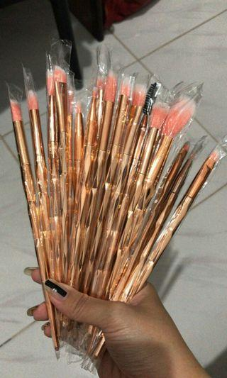 Brush Set Diamond rose gold 18pcs