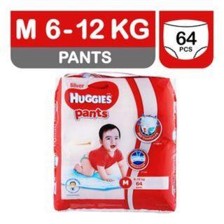 Huggies silver Pants, M (full pack, opened, taped back)