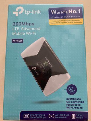 TP link 300Mbps LTE advances mobile WAI Fi M7450
