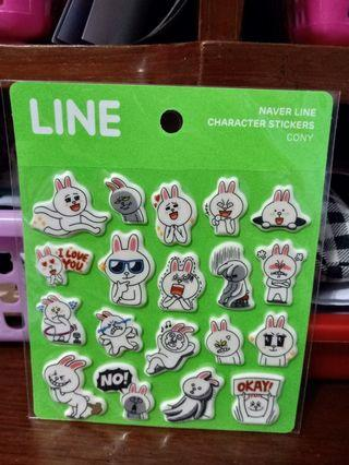 Naver line character stickers cony