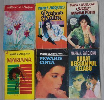 Novel Roman Indonesia Karya Maria A. Sardjono 1 Set Isi 6 Buku (Pre-Owned)