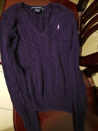 Ralph Lauren XS V neck sweater knit