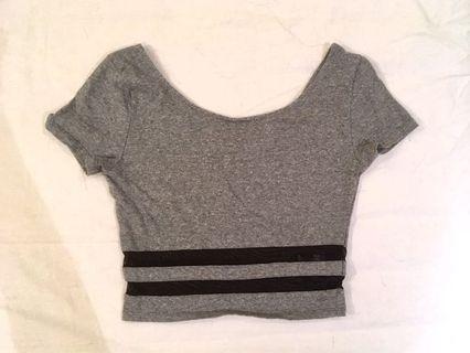 H&M crop top 短版短袖上衣