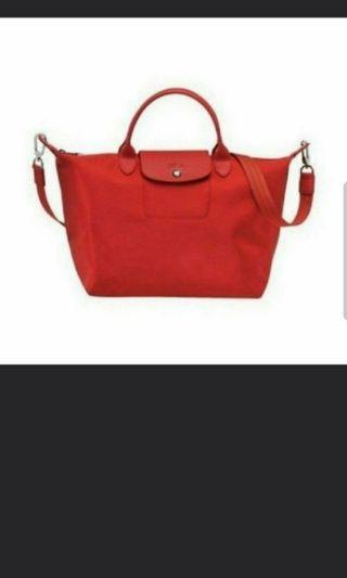 🚚 Longchamp Bag neo red sling