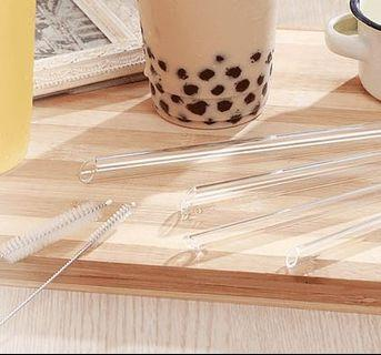 Glass Straws Pack (incl Bubble Tea Straw)