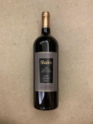 shafer 2009 napa valley stags leap district one point five red wine 紅洒