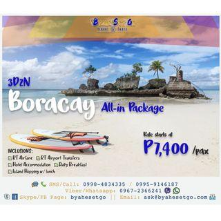 3D2N Boracay All-In Tour Package