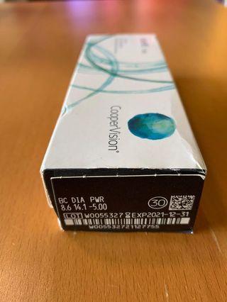 💯 % 🆕 32 片 CooperVision Clariti 1 day 每日即棄隱形眼鏡(弧度:8.6.度數-5.00),仍有1盒+2 片,共32片