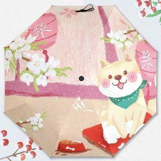 柴犬雨傘 (黑色膠底,超遮光)