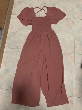 Blush pink romper jumpsuit