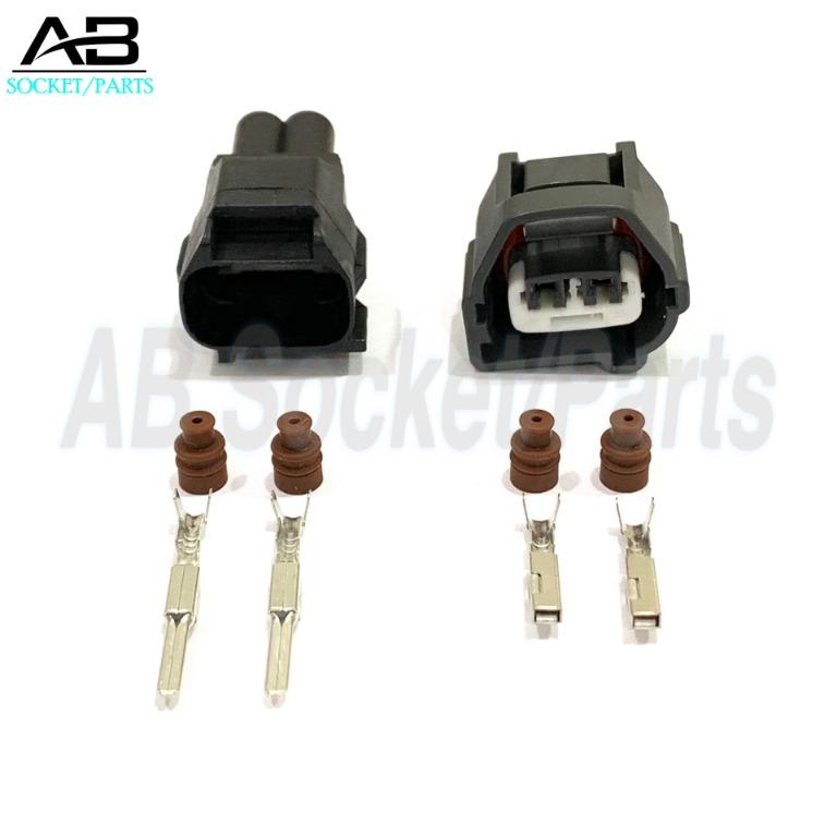 2 Pin Perodua Myvi Kelisa Viva Kenari Crankshaft Sensor (Male+Female)  Socket Connector