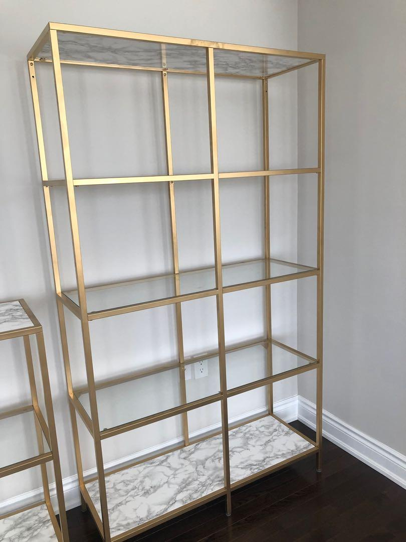 3 gold and marble shelvings - sold separate or together - read description