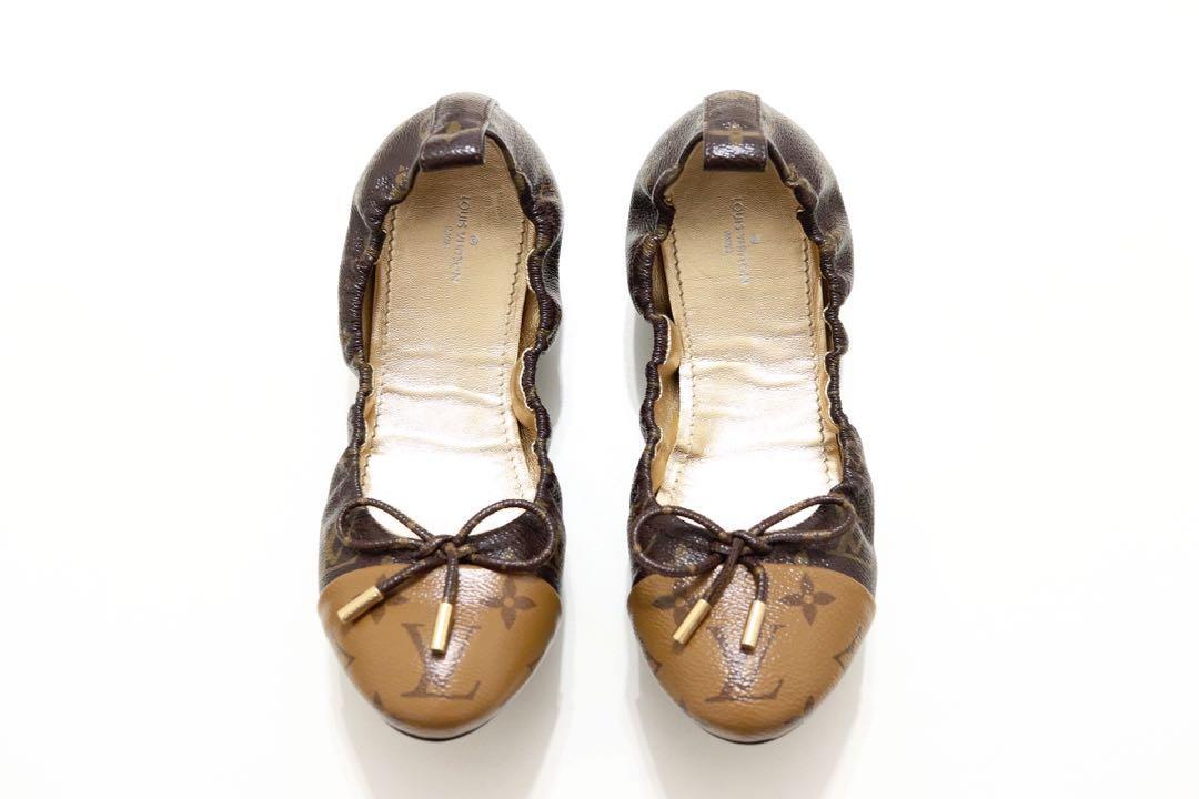 👢 Louis Vuitton Flirty Ballerina Flat in Reverse Monogram 👢
