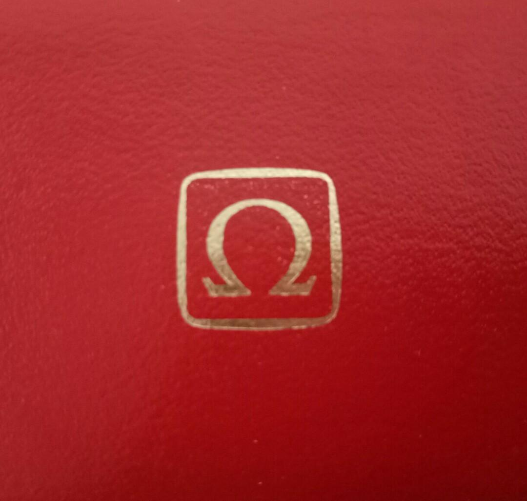 Authentic Vintage Omega Watch Hard Case Storage Box Red with Cushion Lining