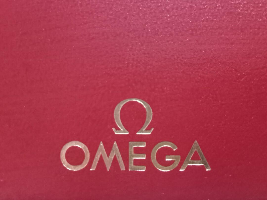 Authentic Vintage Omega Watch Hardcase Storage Red Box