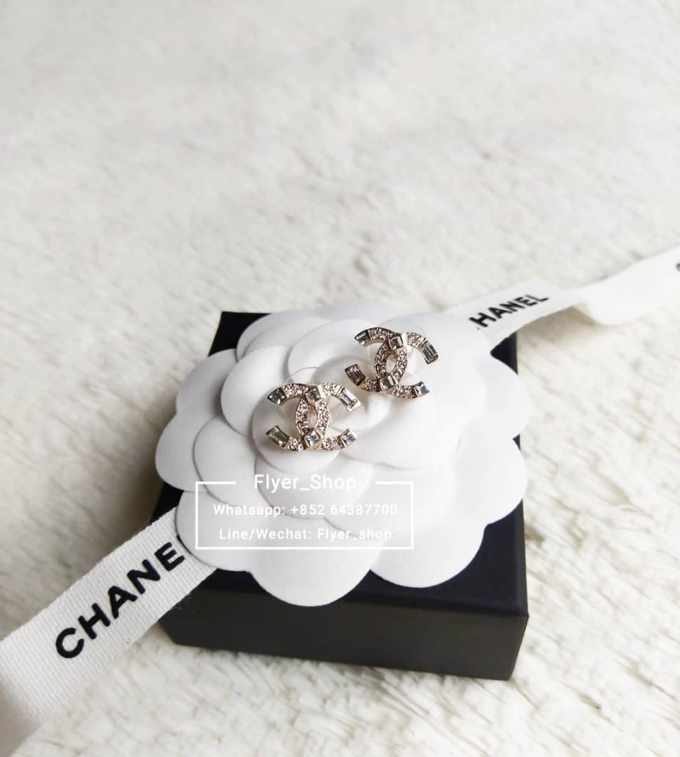 Chanel 新款CC閃石耳環 Earrings