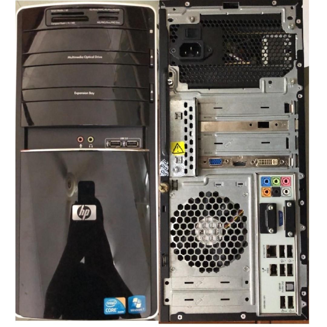 Clearance: HP Pavilion P6380D - i5 CPU + SSD + 8GB Memory + Asus Display  Card (GeForce® GT430)