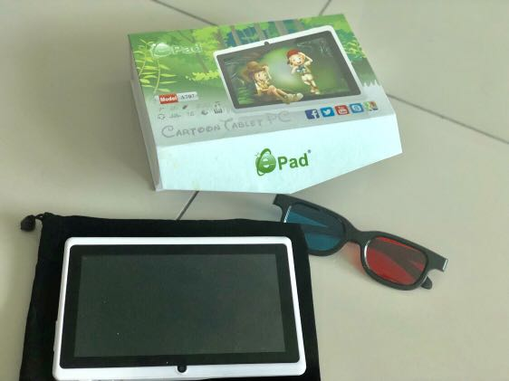 Epad A707 Cartoon Tablet PC -free pouch-3D glasses