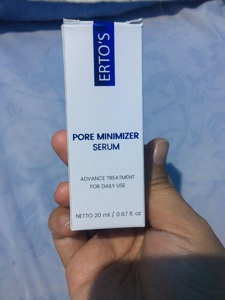 Ertos Pore Minimizer Serum Kesehatan Kecantikan Kulit Sabun