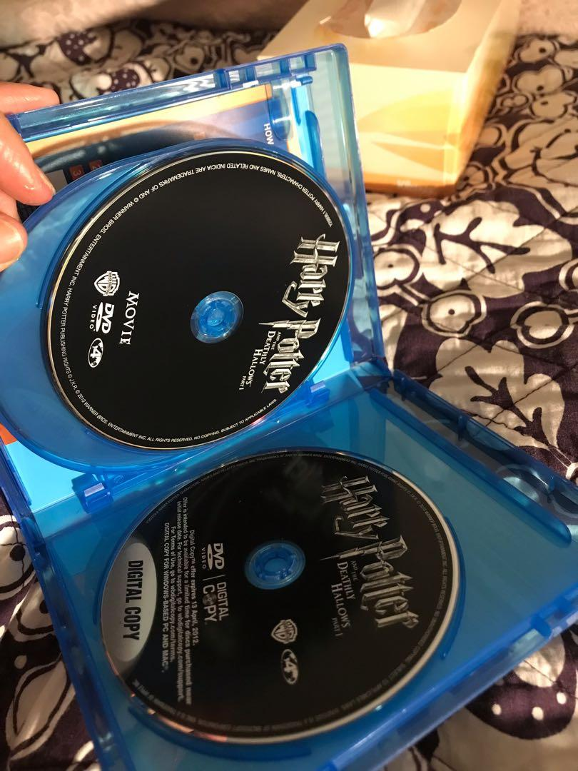 Harry Potter and the Deathly Hallows part 1 Blu Ray combo pack (DVD, two blu rays and digital copy)