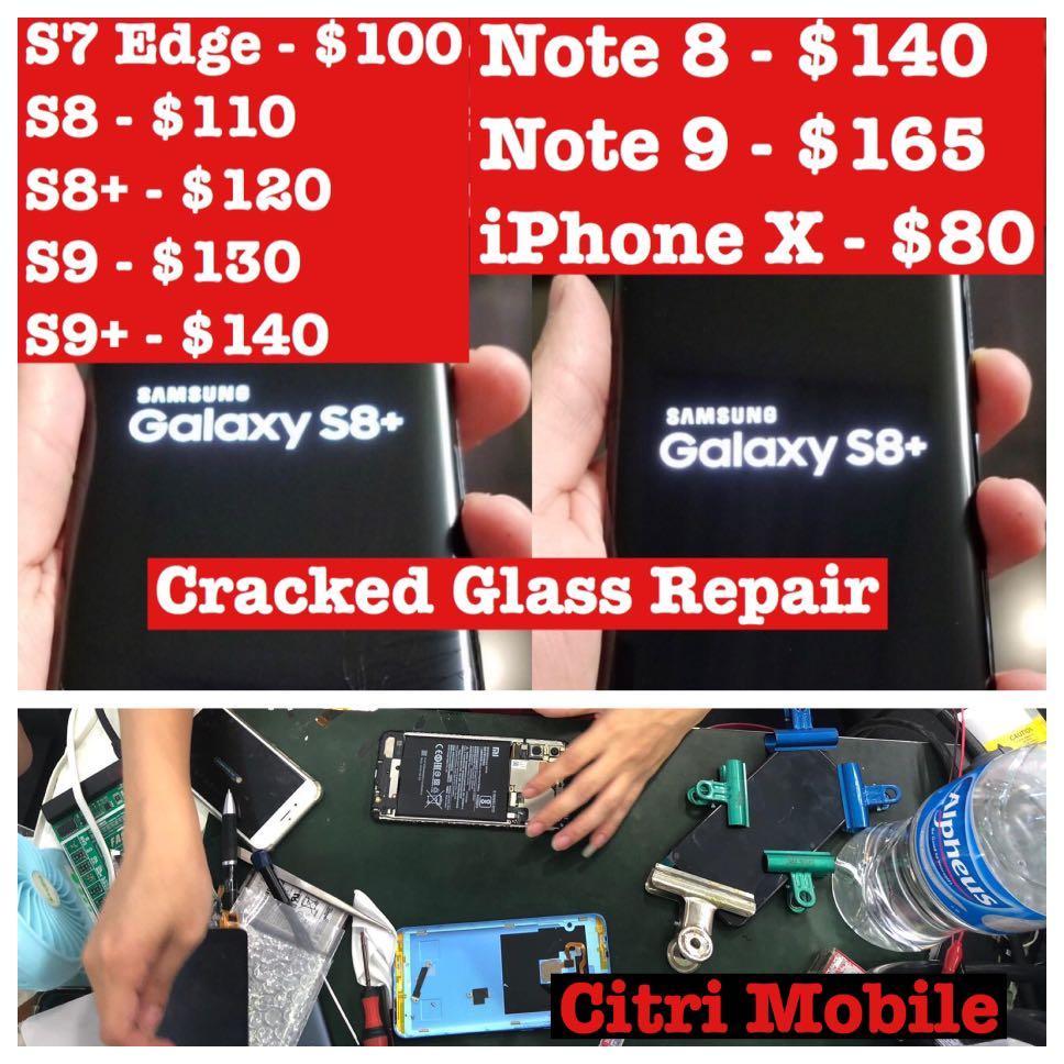 Samsung Note 8 9 Repair, iPhone Phone Screen Battery Repair