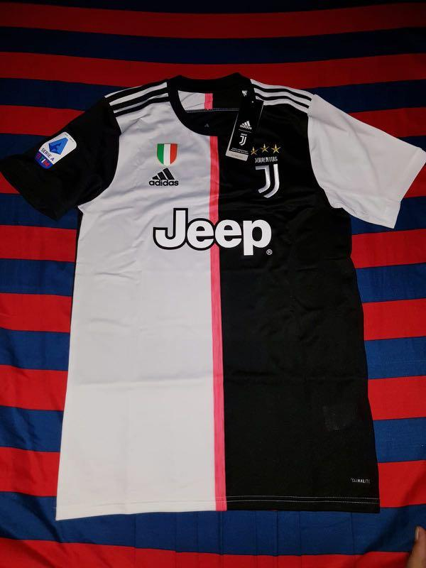 Juventus 19 20 Home Kit With Scudetto Juventus Logo Hologram And 19 20 Serie A Patch Sports Sports Apparel On Carousell