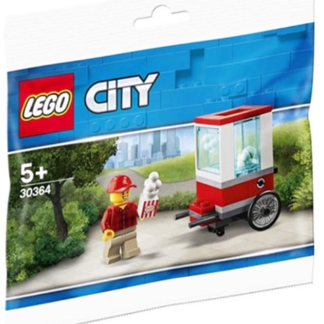 Lego City Popcorn Cart Minifigure Set 43 Pc Legoland Coupon Sealed Polybag New