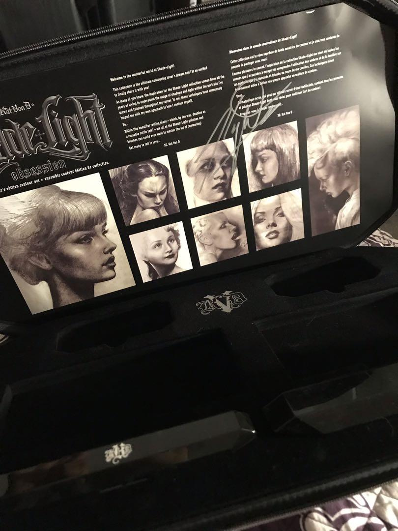 Limited Edition KAT VON D Shade + Light Obsession Coffin Case with Kat Von D signature