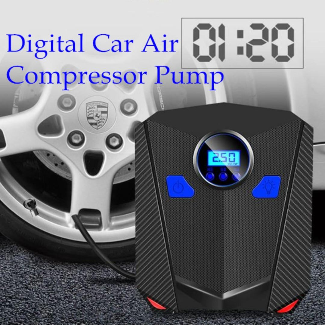 12 VOLT 100 PSI COMPACT PORTABLE AIR COMPRESSOR COMPACT CAR INFLATE TIRES NEW!