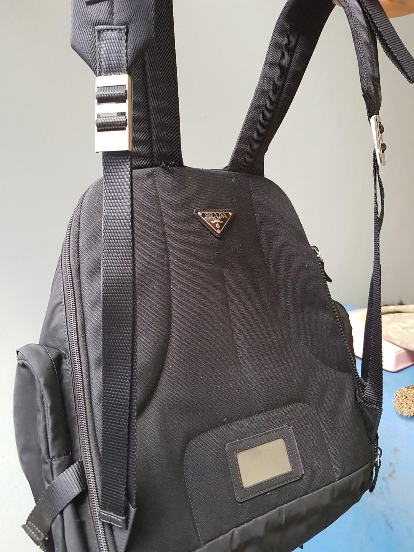 Prada Bag Tessuto Montagna Nero