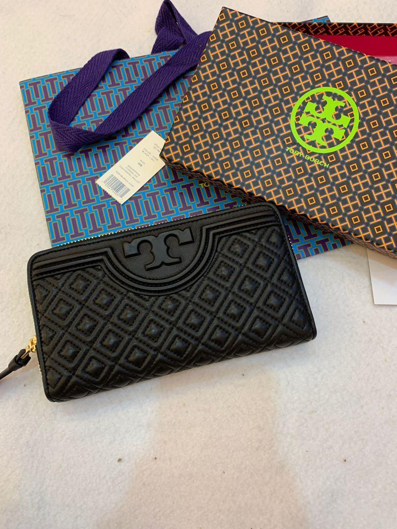 Ready Stock Authentic Tory Burch women Fleming leather long wallet purse