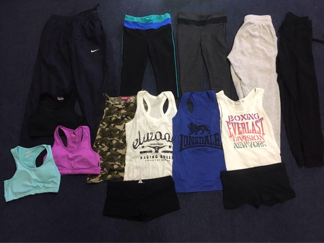 Size small leggings, shorts, crops, singlets, trackies fitness bundle
