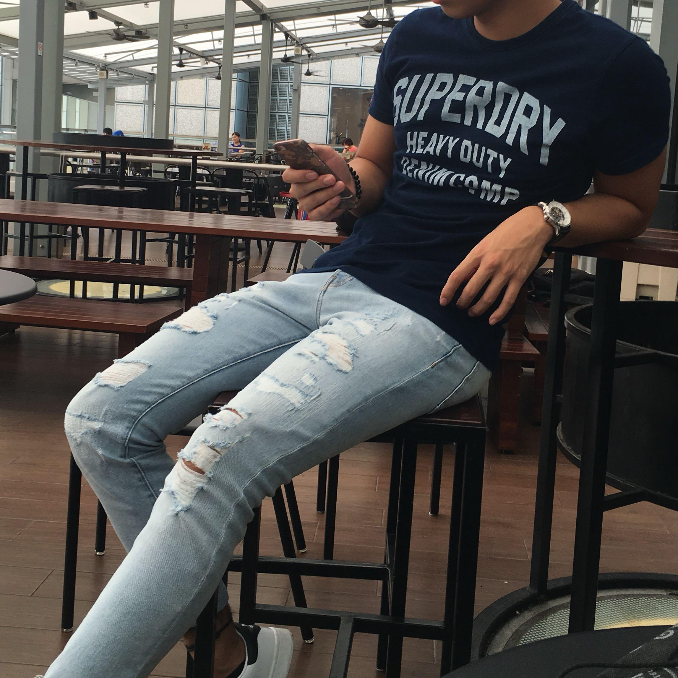 Superdry shirt navy blue
