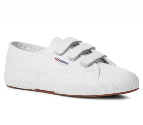 Superga 2750 Leather Strap White - Size