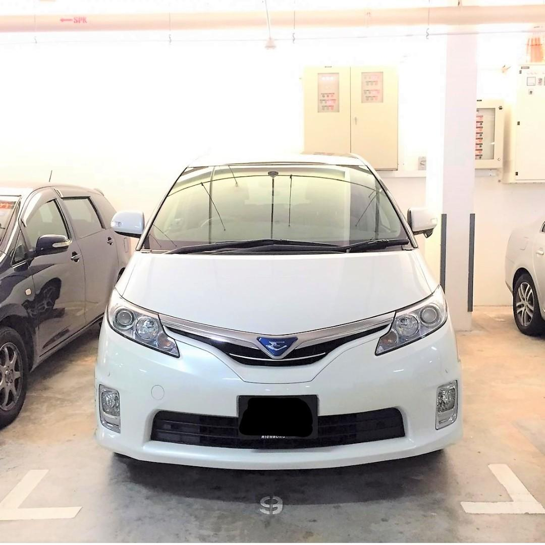 Toyota Estima Hybrid For PHV/Personal Use cheap car rental